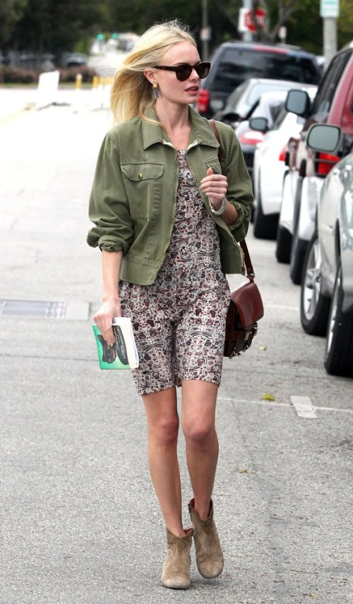 kate-bosworth floral dress-boots-laselectiva