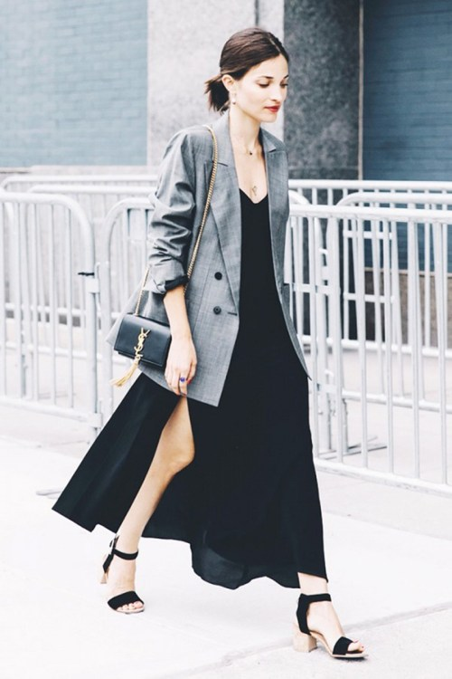 Blazer con vestido largo | Blazer with long dress