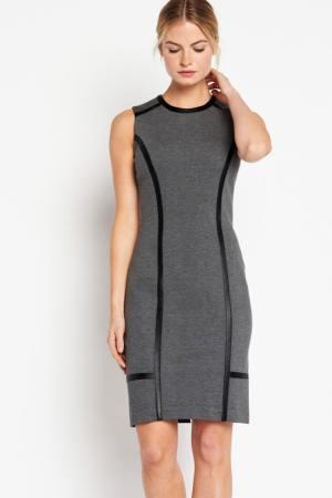 Vestido gris Of Mercer con cremallera trasera
