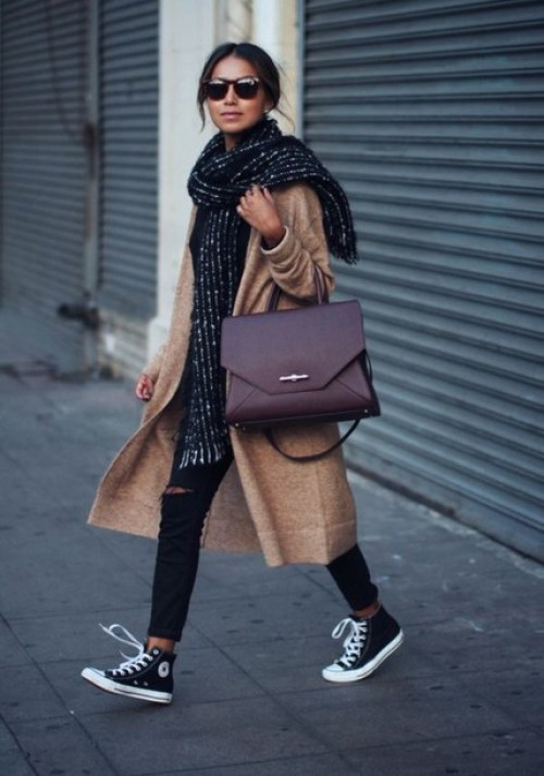Lookazo con Maxi-bufanda y bolso working | Great look with Maxi-scarf and working bag