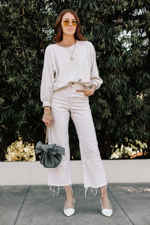 How to wear white jeans, sophisticated but simple - La Selectiva