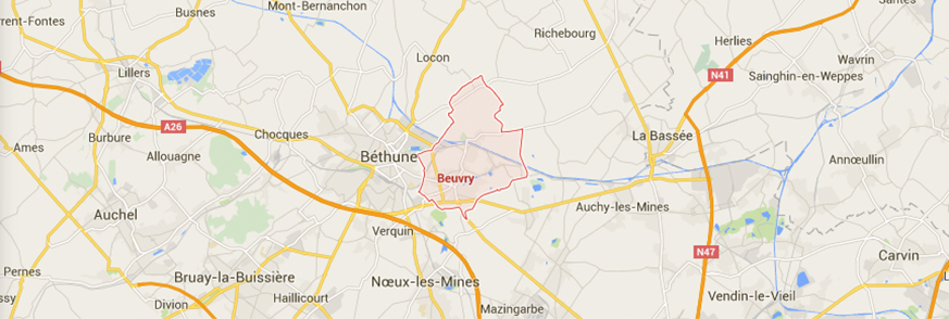 map Beuvry