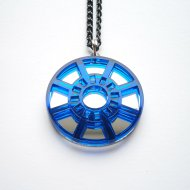 Iron Man Necklace -Heart Arc Reactor