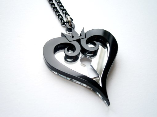 Kingdom hearts black pendant