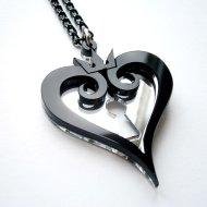 Kingdom hearts black pendant