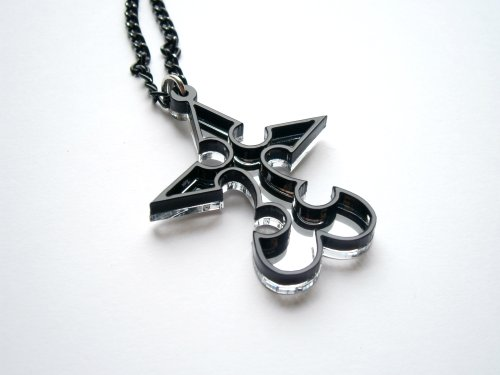 Kingdom Hearts Nobody Emblem Pendant Necklace Laser Cut Jewelry