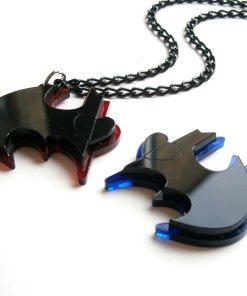 best friends batman necklaces