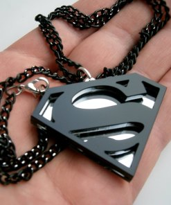 Black Superman Pendant