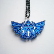 Blue Legend of Zelda Necklace - Hyrule's Royal Crest