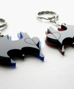 Best Friends Batman Keychains