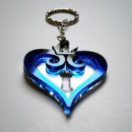 Kingdom Hearts Keychain - Lasercut Blue Acrylic Keychain