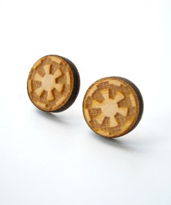 Star Wars Imperial Wooden Stud Earrings