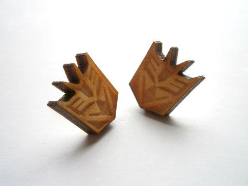 Transformers stud earrings
