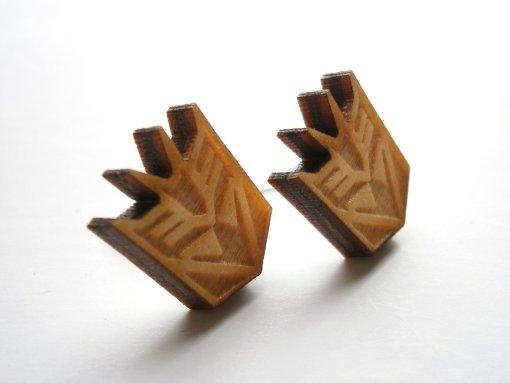 megatron stud earrings