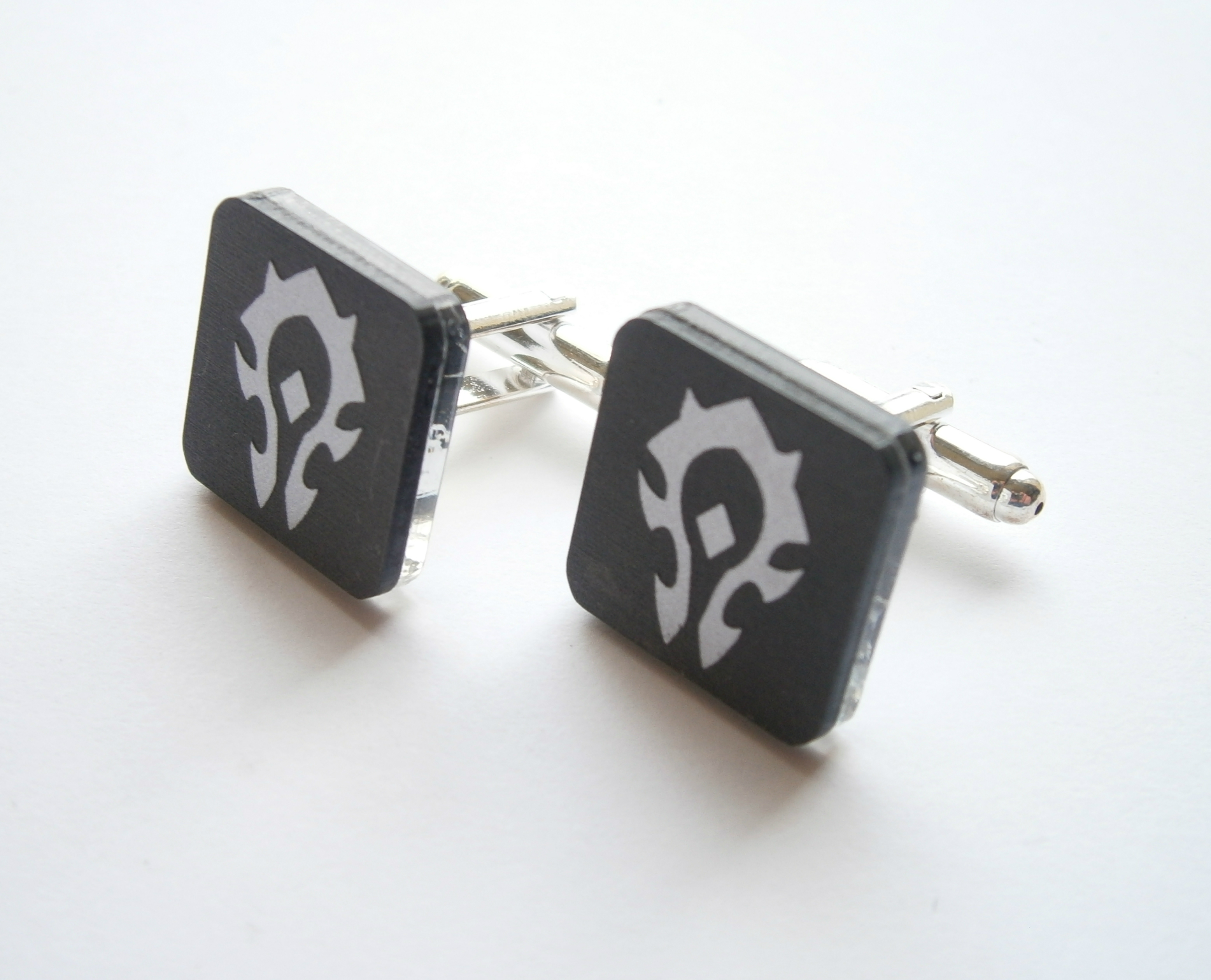 Gamer Cuff Links Gift for Him Geekery Dork Pride Cuff Links World of Warcraft Alliance Cuff Links Father/'s Day WOW RPG Cuff Links