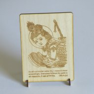 Krishna postcard engraved Damodara lila 5
