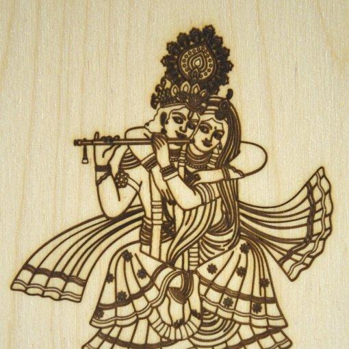 Radharani and Krishna postcards lasercut 1