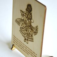 Radharani and Krishna postcards lasercut