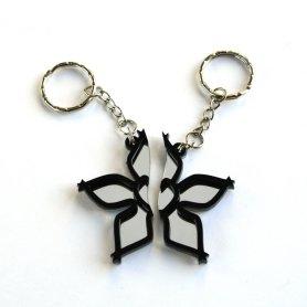 Kingdom Hearts Wayfinder best friends keychains Laser cut mirror and black acrylic 1
