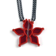 Wayfinder best friends necklaces Laser cut from red acrylic