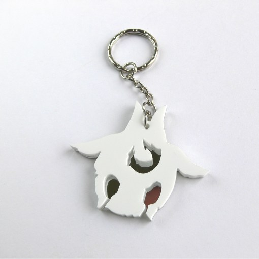 LoL Kindred Lamb keychain Laser cut white and mirror acrylic