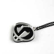 Pokemon Team Skull necklace Laser cut black and mirror acrylic
