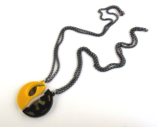 Star Wars best friends necklaces Laser cut from yellow and black plastic