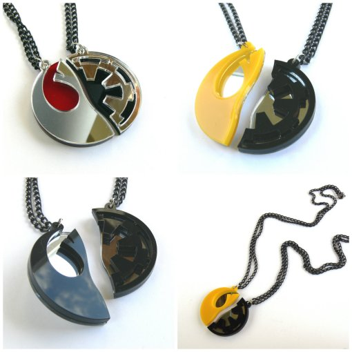 collage Star Wars Necklaces