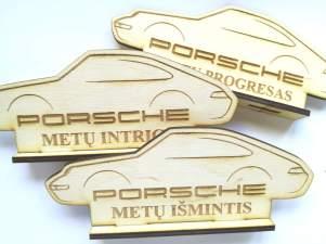 Plywood award lasercut and engraved