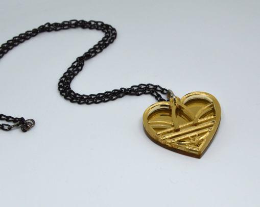 Adidas Necklace Golden Heart2