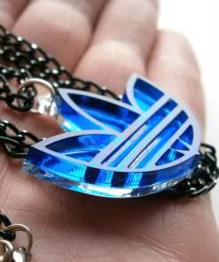 Adidas necklace blue acrylic1
