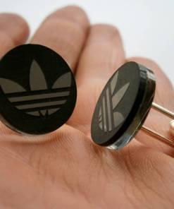 adidas black mirror cufflinks
