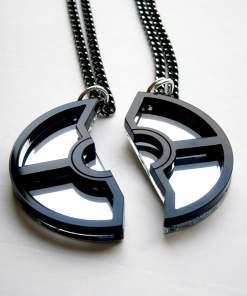 pokeball necklace black 3