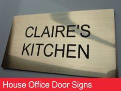 House Office Door Signs