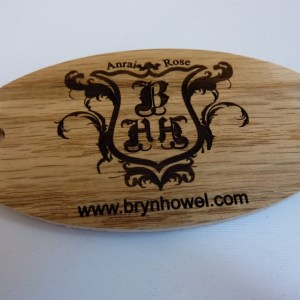 Oval Shape Wooden Key Fob