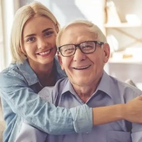 grandfather and grand-daughter