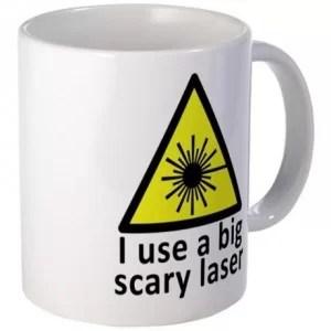 Scary laser Mug