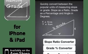 Handy Grade Converter App for iPhone & iPad