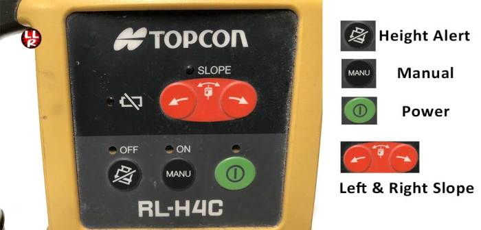 Topcon RL-H4C key pad control panel