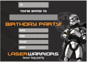 laser tag invitations party for kids