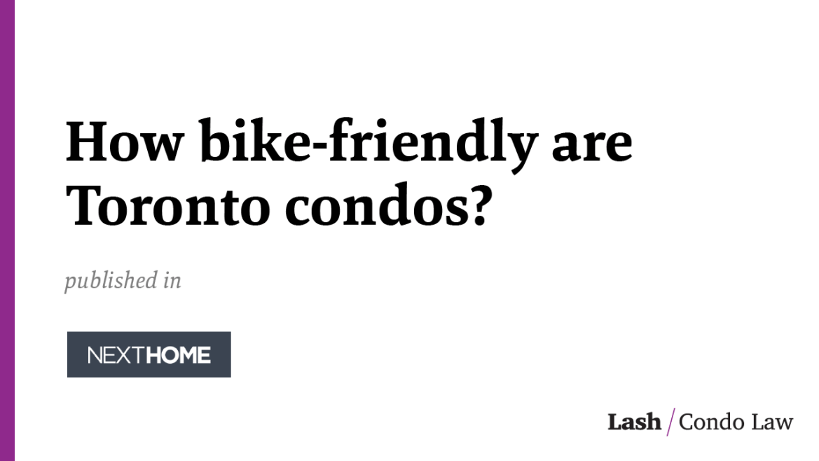 How bike-friendly are Toronto condos?