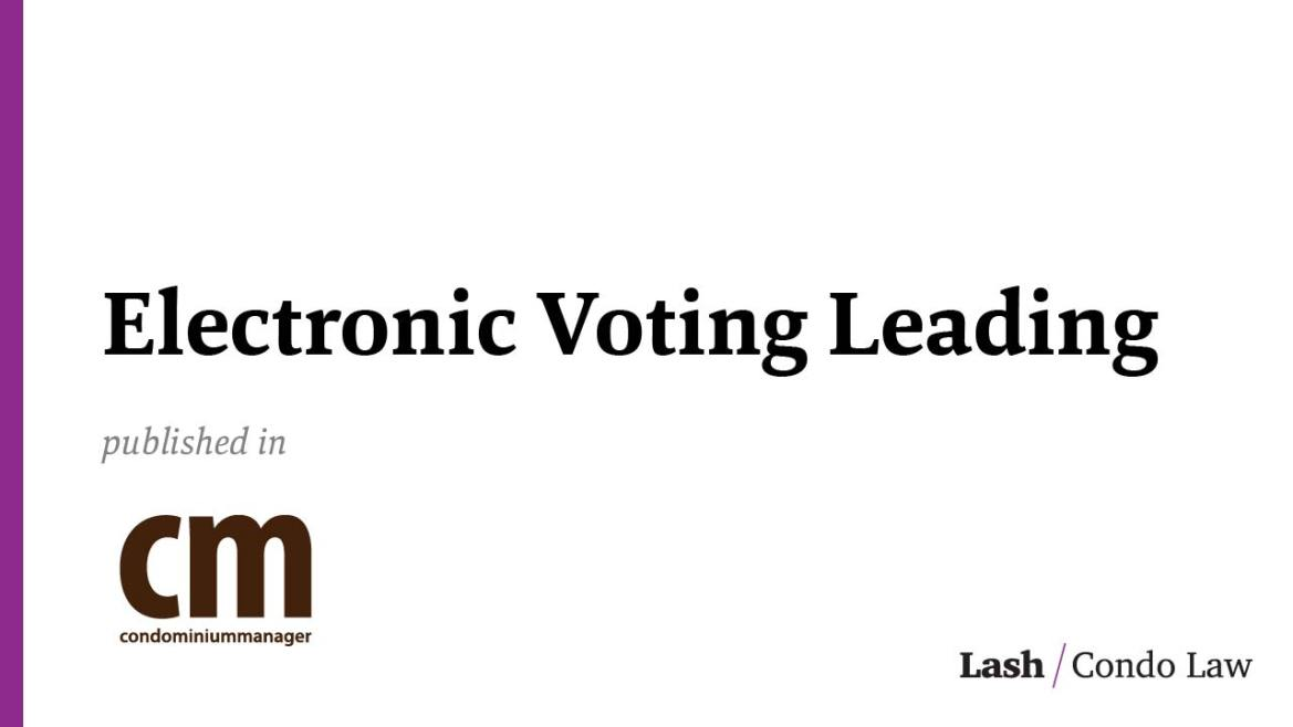 Electronic Voting Leading the way for 2020