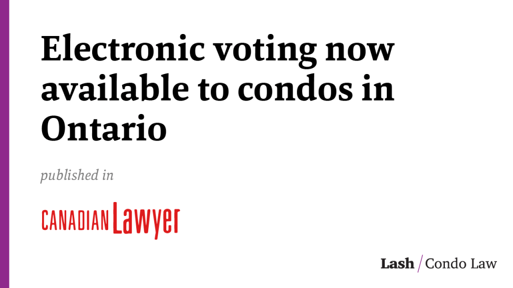 Electronic voting now available to condos in Ontario
