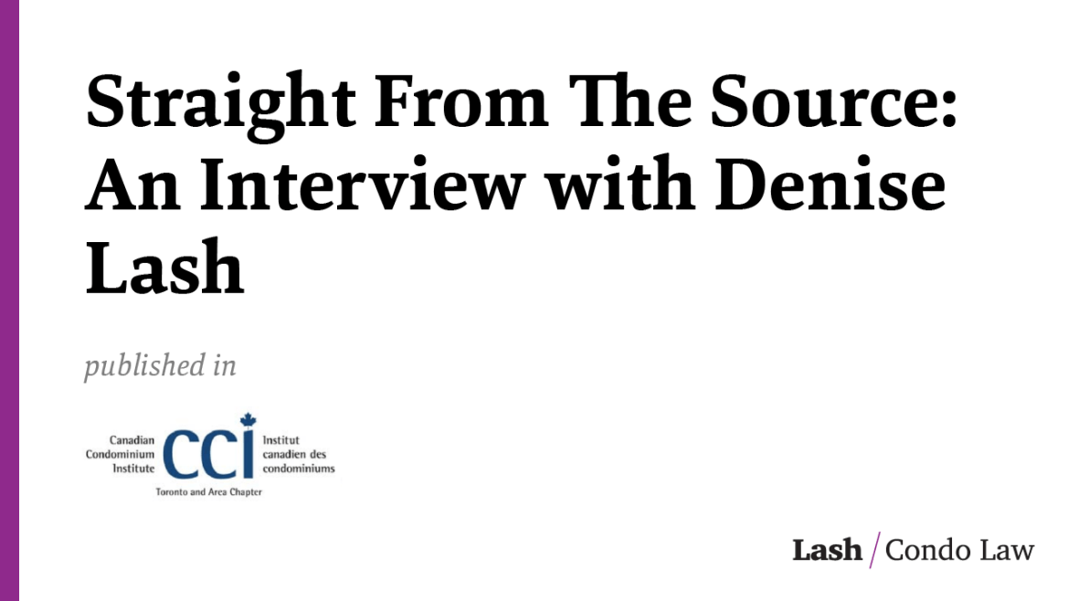 Straight From The Source: An Interview with Denise Lash