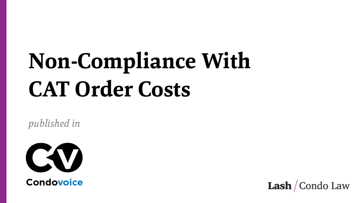 Non-Compliance With CAT Order Costs