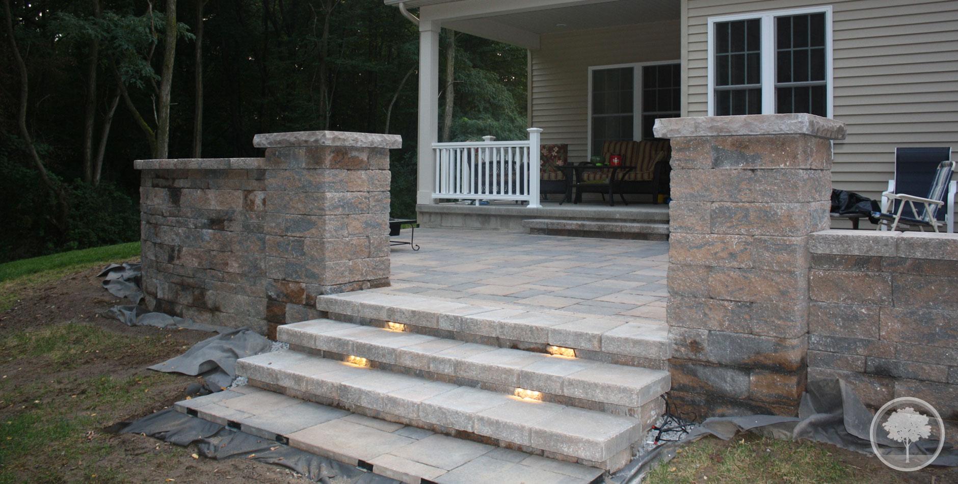 LaShomb Lawn & Landscape Patio - Steps - Lighting - Walls ... on Backyard Patio Steps id=84084