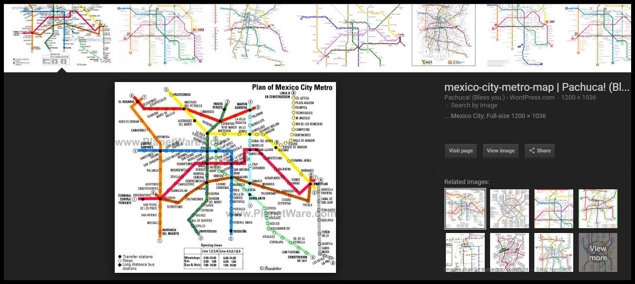 Mexico City Metro System Map