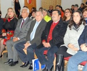 Dirigentes de Asemuch y alcaldes, Omar Vera y Emilio Jorquera.
