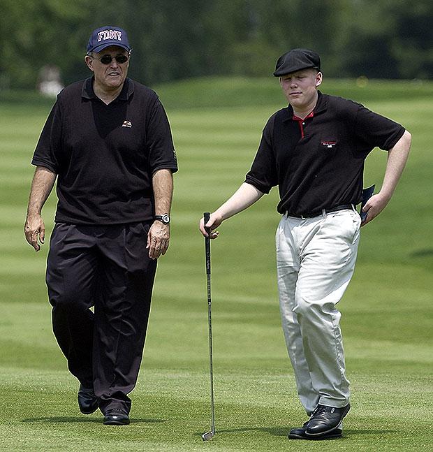 Rudy y Andrew Giuliani