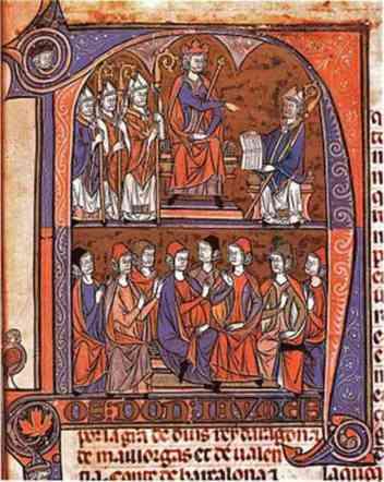 Jaime I recibe Fueros de Aragón